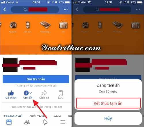 Cách tạm ẩn theo dõi Unfollow Facebook người khác trong 30 ngày 4