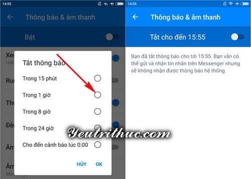 Cách tắt thông báo từ nhóm Chat trên Facebook và Messenger 4