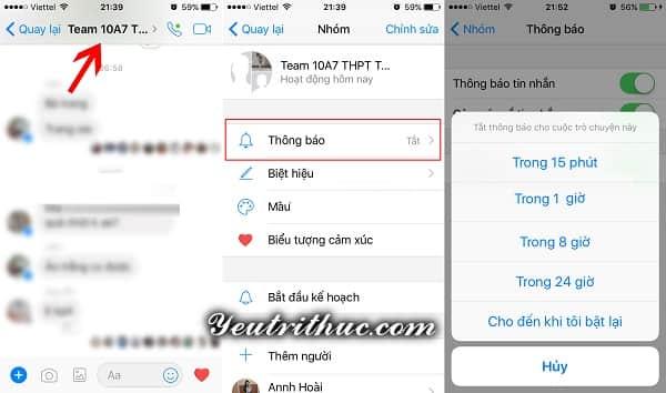 Cách tắt thông báo từ nhóm Chat trên Facebook và Messenger 5