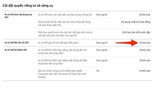 Cách chặn tìm kiếm nick Facebook từ email, SĐT và trên Google 5