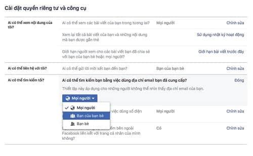 Cách chặn tìm kiếm nick Facebook từ email, SĐT và trên Google 7