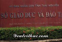 Tra cứu thông tin Sở Giáo dục và Đào tạo Thái Nguyên