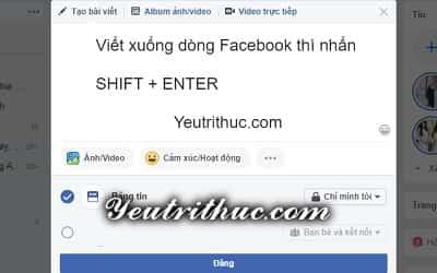 Cách viết xuống dòng trên Facebook Messenger