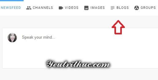 Cách tạo bài viết Blogs mới trên Minds 1