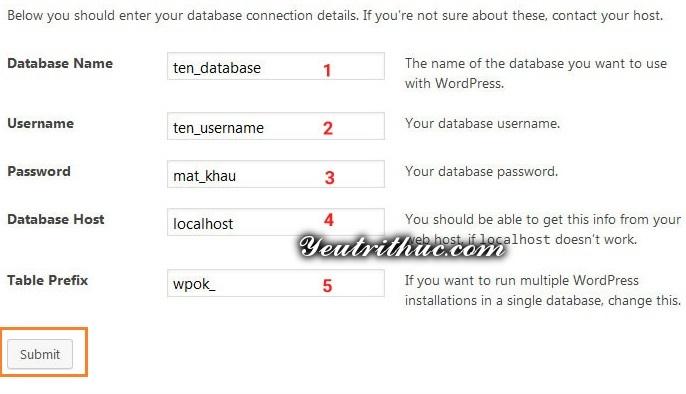 Tiến hành cài đặt WordPress 2