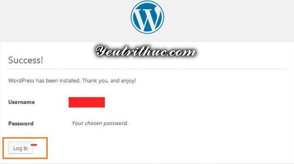 Tiến hành cài đặt WordPress 4