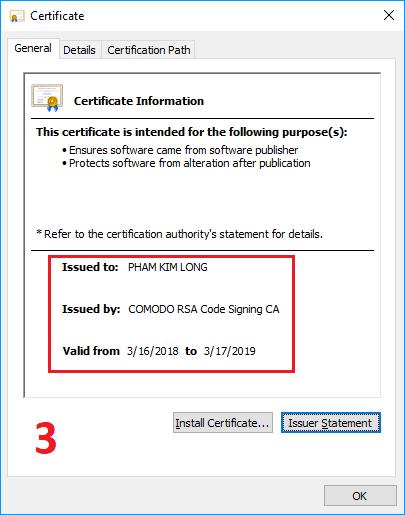 cách kiểm tra chứng thực UniKey 6