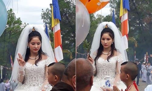 Cosplay Quan Thế Âm Bồ Tát mặc váy cưới 1
