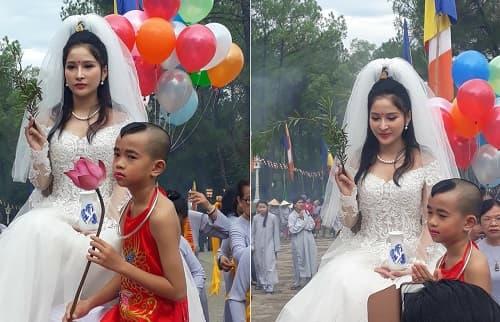 Cosplay Quan Thế Âm Bồ Tát mặc váy cưới 2