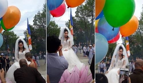 Cosplay Quan Thế Âm Bồ Tát mặc váy cưới 4