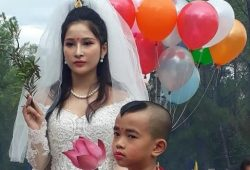 Cosplay Quan Thế Âm Bồ Tát mặc váy cưới 6