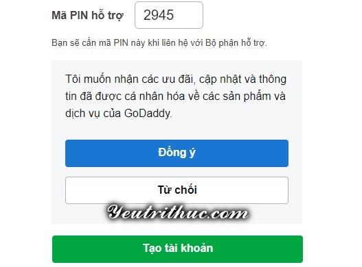 cách đăng ký tạo tài khoản GoDaddy 4