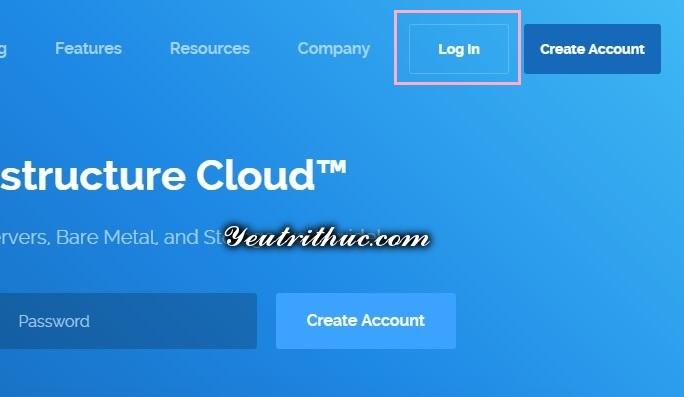 Cách đăng nhập tài khoản Vultr 2