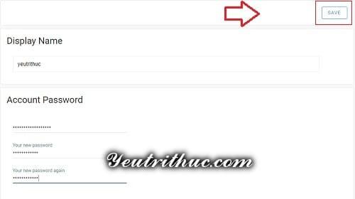 Cách thay đổi mật khẩu Minds 2