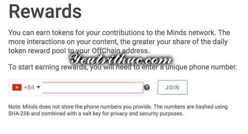Cách đăng ký tạo tài khoản Minds 4