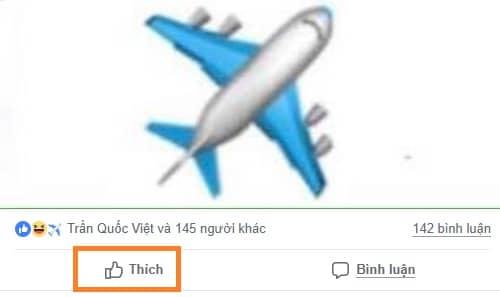 Cách tạo biểu tượng cảm xúc Máy bay trên Facebook 1