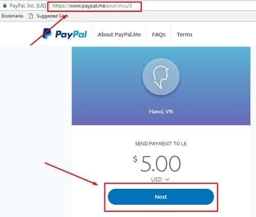 Cách sử dụng nhận thanh toán và chuyển tiền bằng PayPal.me 5