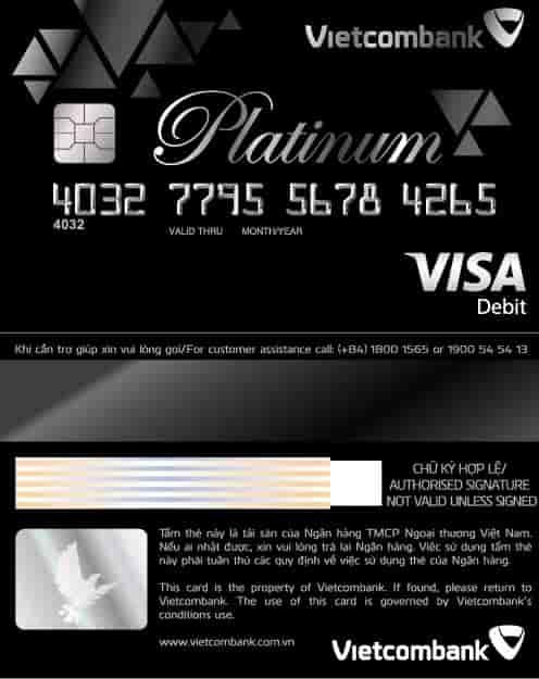 Thẻ Ghi nợ Quốc tế Vietcombank Visa Platinum là gì 2