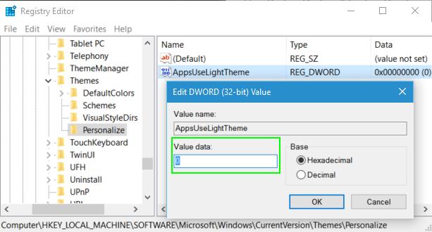 Cách kích hoạt, bật chế độ xem tối Dark Theme trên Windows 10 7