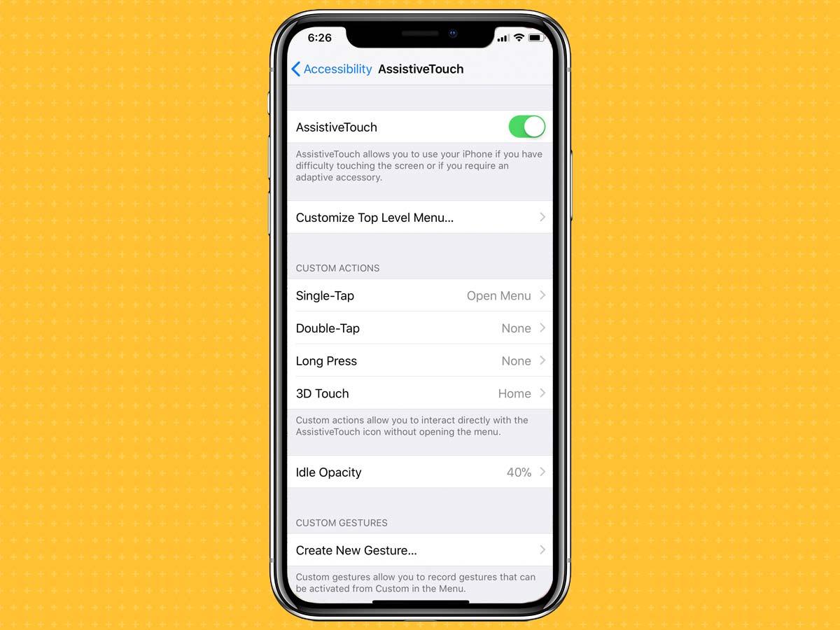 Cách kích hoạt, bật phím Home ảo trên iPhone XS, XS Max, XR 6