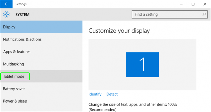 Cách bật tất, kích hoạt chế độ Tablet Mode trên Windows 10 3