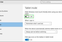 Cách bật tất, kích hoạt chế độ Tablet Mode trên Windows 10 4