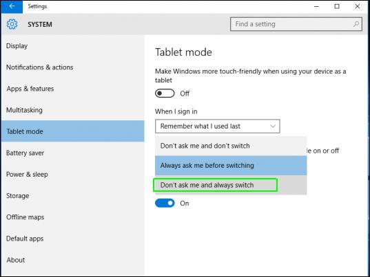 Cách bật tất, kích hoạt chế độ Tablet Mode trên Windows 10 5