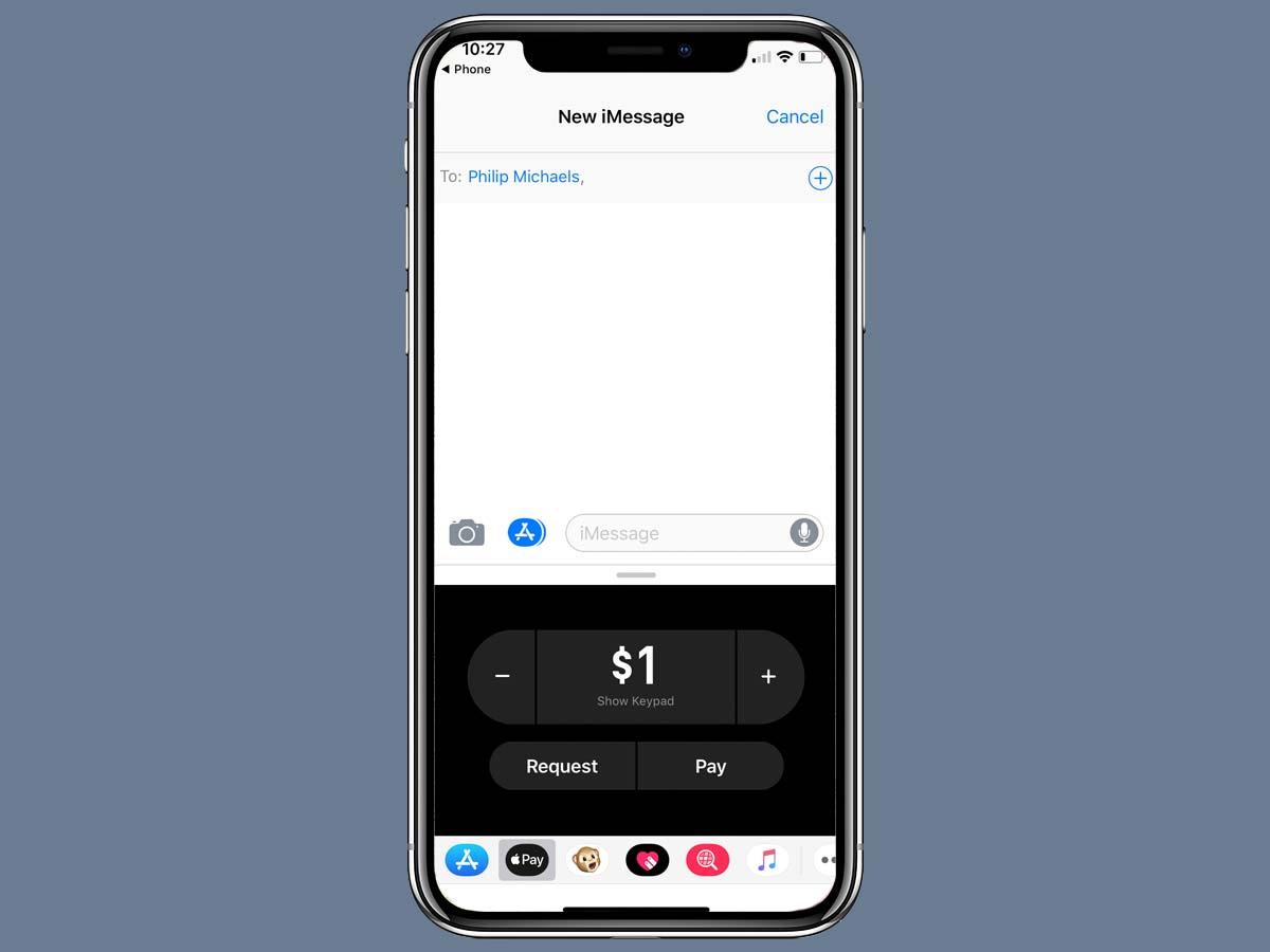 Cách chuyển tiền Apple Pay Cash bằng iMessage trên iPhone XS, XR 11