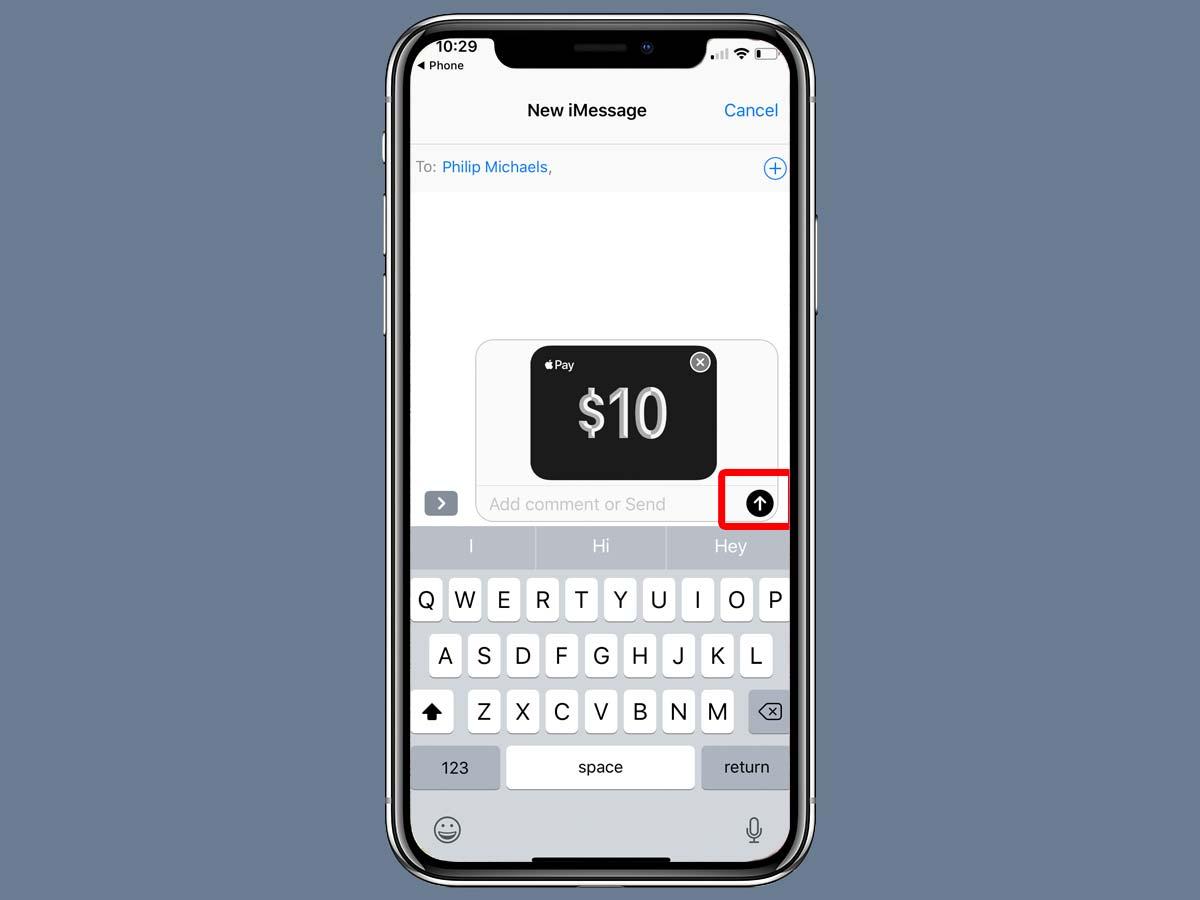 Cách chuyển tiền Apple Pay Cash bằng iMessage trên iPhone XS, XR 12