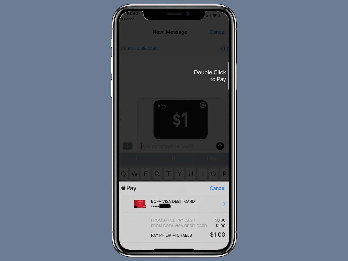 Cách chuyển tiền Apple Pay Cash bằng iMessage trên iPhone XS, XR 13
