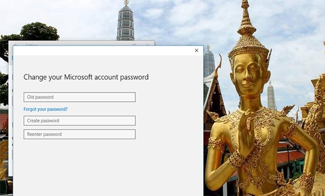 Cách thay đổi mật khẩu Password đăng nhập Windows 10 8