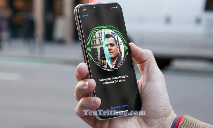 Cách sử dụng Face ID nhận diện khuôn mặt trên iPhone XS, XR 1