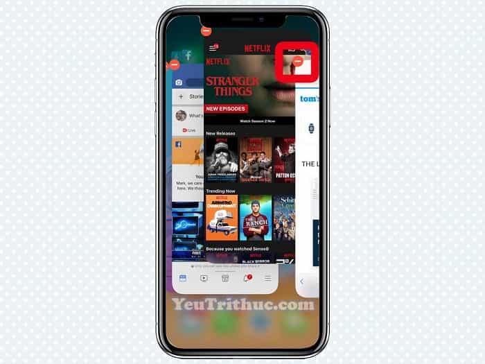 Cách đóng thoát, tắt ứng dụng app trên iPhone XS, XS Max, XR 3