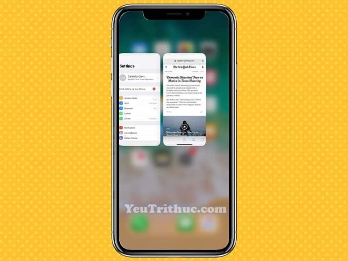 Cách chuyển nhanh giữa các ứng dụng trên iPhone XS, XR, iPhone X 3