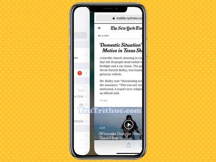 Cách chuyển nhanh giữa các ứng dụng trên iPhone XS, XR, iPhone X 4