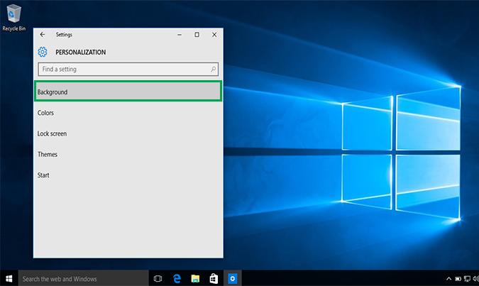 Cách thay đổi hình nền Background Desktop trên Windows 10 5