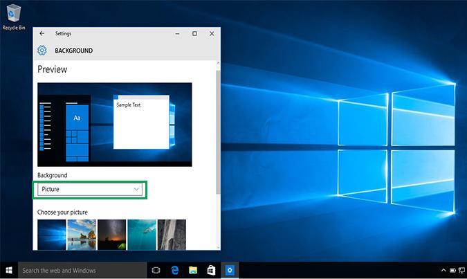 Cách thay đổi hình nền Background Desktop trên Windows 10 6
