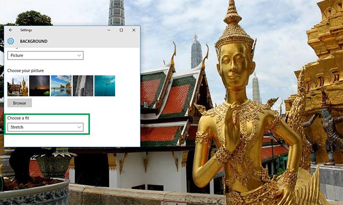 Cách thay đổi hình nền Background Desktop trên Windows 10 9