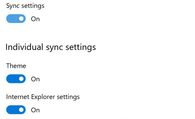 Cách đồng bộ hóa thiết lập cài đặt Sync Settings trên Windows 10 0