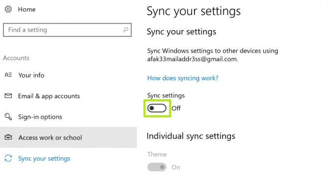 Cách đồng bộ hóa thiết lập cài đặt Sync Settings trên Windows 10 6