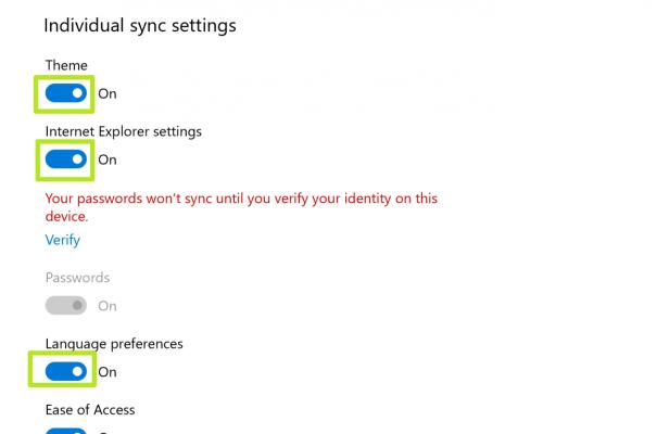 Cách đồng bộ hóa thiết lập cài đặt Sync Settings trên Windows 10 7