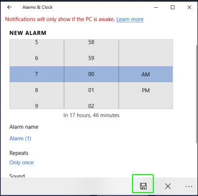 Cách bật hẹn giờ báo thức Alarms & Clock trên Windows 10 5