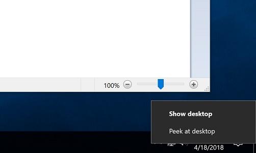 2 cách hiển thị màn hình Desktop trên Windows 10 khi làm việc 1