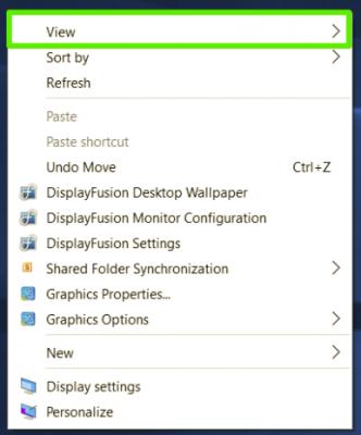 Cách thay đổi kích thước biểu tượng icon ứng dụng trên Windows 10 1