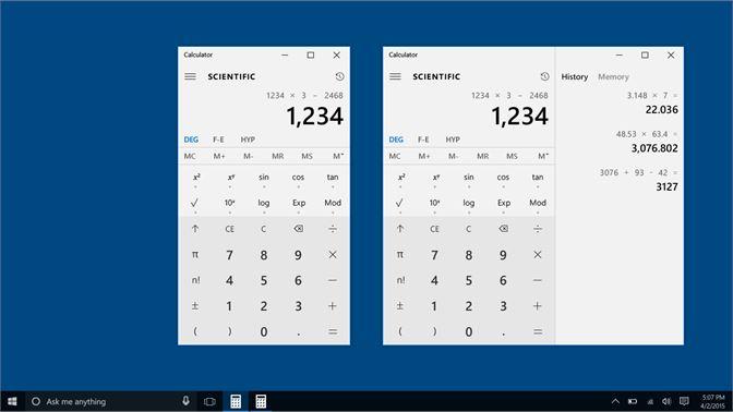 Phím tắt máy tính tay Calculator trên Windows 10 đầy đủ nhất