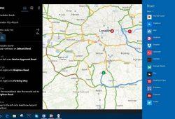 Phím tắt cho Bản đồ Microsoft Windows Maps trên Windows 10