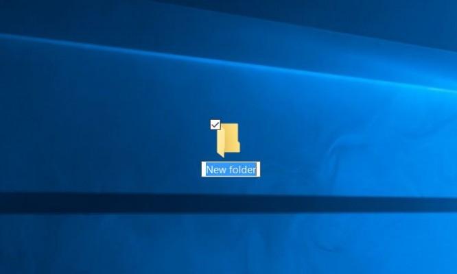 Cách tạo một thư mục mới New Folder trên Windows 10 1