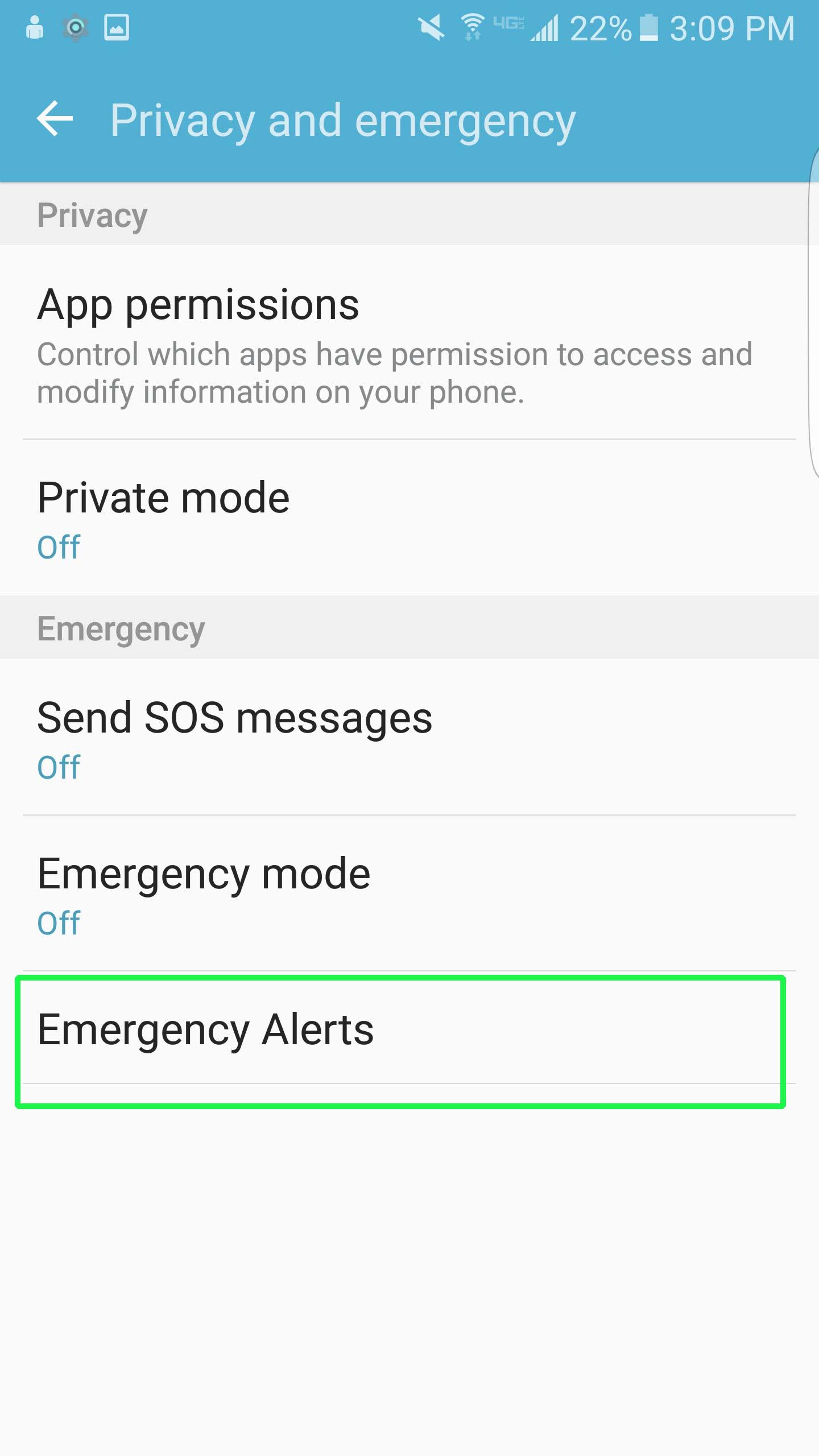 Cách tắt thông báo khẩn cấp Emergency, Amber Alerts Galaxy S7 4