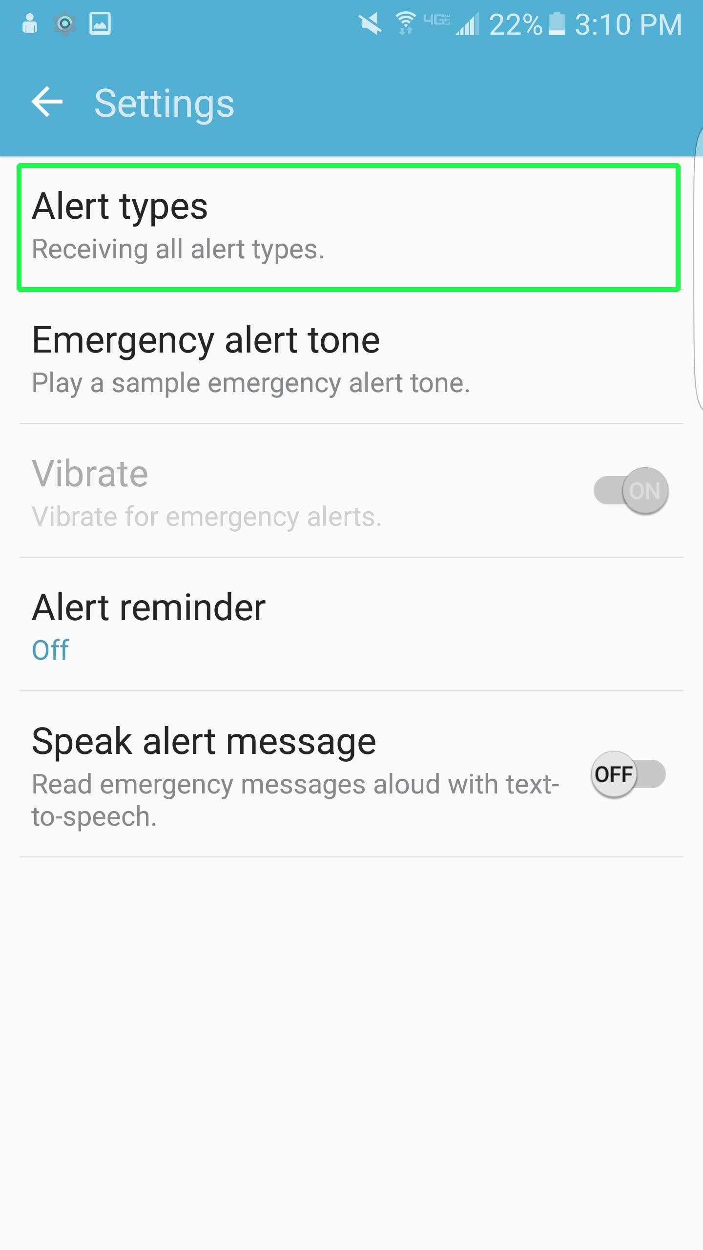 Cách tắt thông báo khẩn cấp Emergency, Amber Alerts Galaxy S7 7