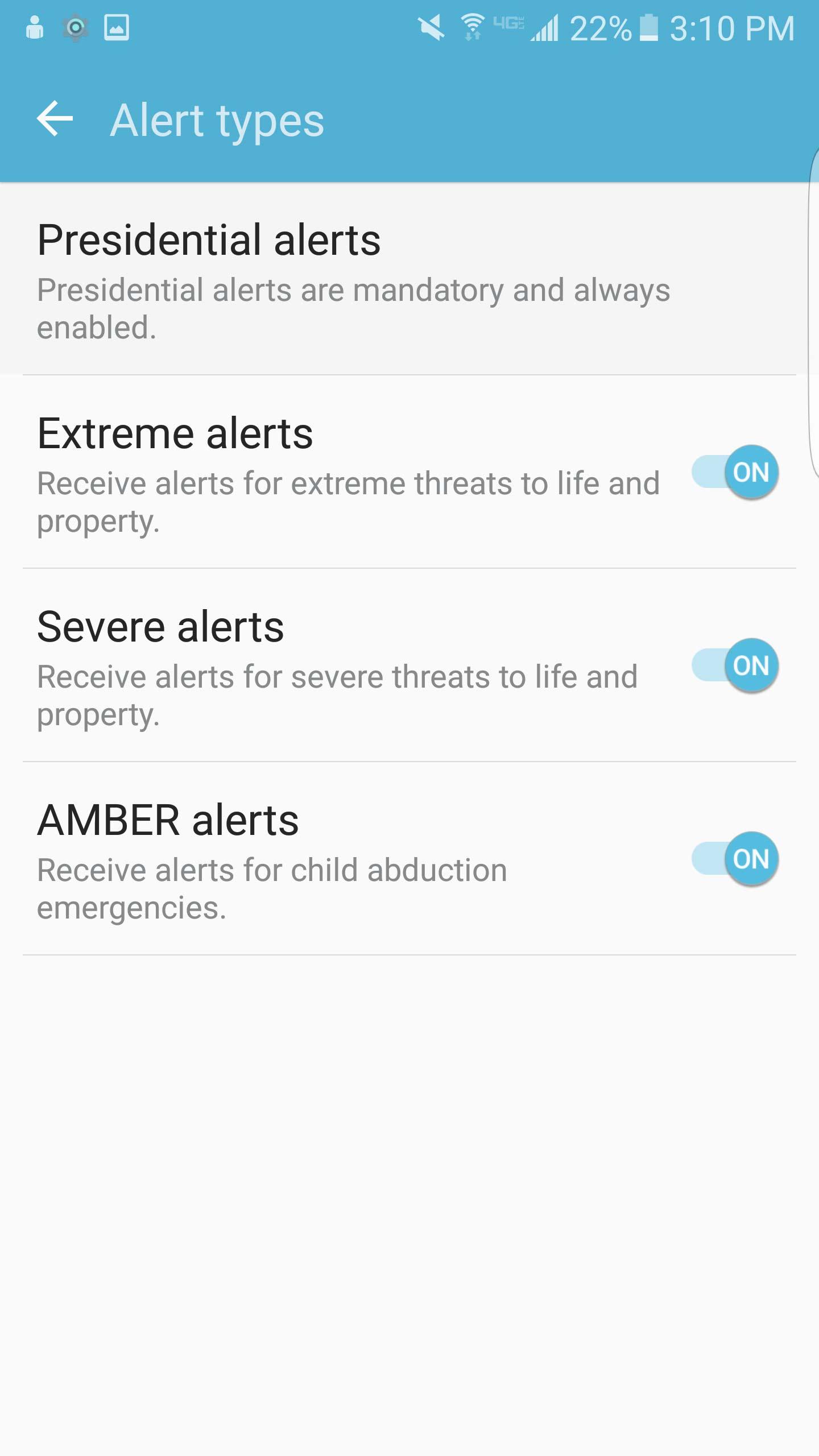 Cách tắt thông báo khẩn cấp Emergency, Amber Alerts Galaxy S7 8